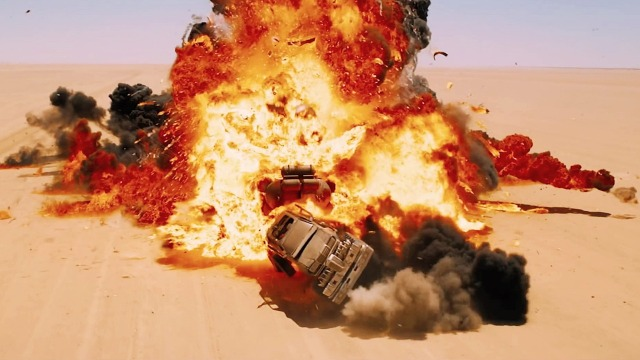 Mad Max Fury Road Car Accident Fire Stills Wallpaper